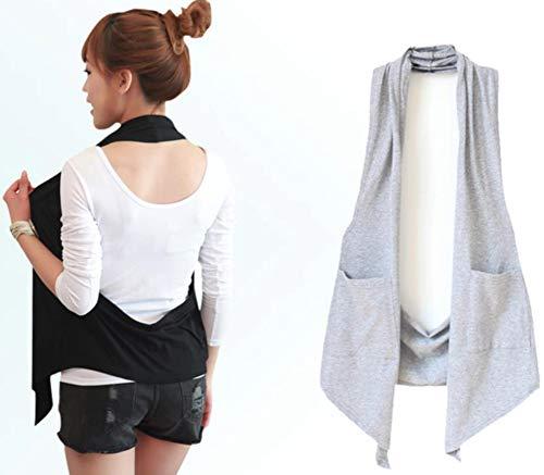 Alhyla レディース ベスト 無地 ゆったり チョッキ 夏 カジュアル 袖なし 夏ベスト フェミニン 韓国ファッション