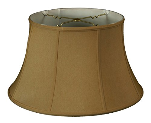 Royal Designs Shallow Drum Bell Billiotte Lamp Shade, Antique Gold, 13 x 19 x 11.26 (BS-711-19AGL) ()