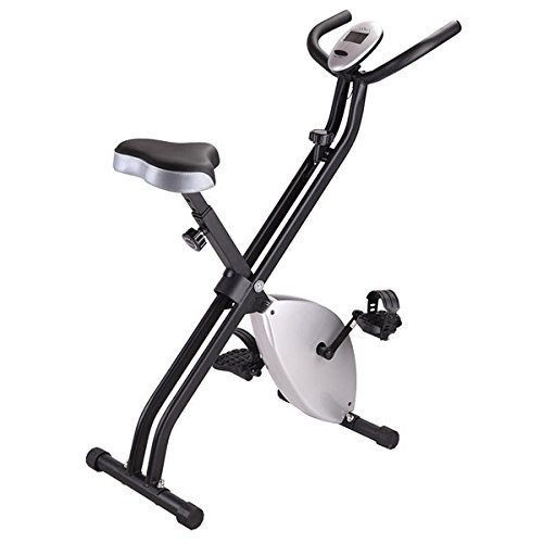Triprel Inc Home Indoor Cycling Foldable Magnetic Upright Exercise Bike - Silver by Triprel Inc