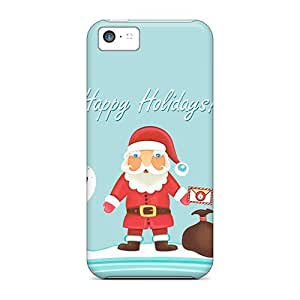 Tpu Case Cover Compatible For Iphone 5c/ Hot Case/ Santa Claus Happy Holidays