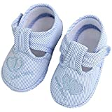 Baby Shoes,Newborn Boys Girls Soft Sole Crib Toddler Shoes Canvas Sneaker (0~3 Month, Blue)
