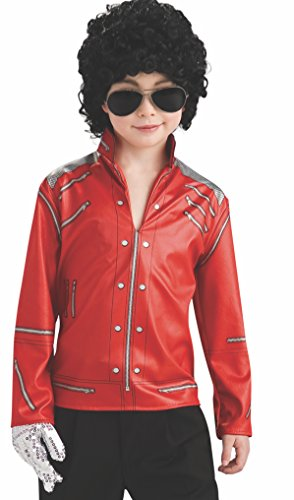 [Michael Jackson Child's Value Red Beat It Zipper Jacket Costume Accessory, Small] (Childrens Michael Jackson Costumes)