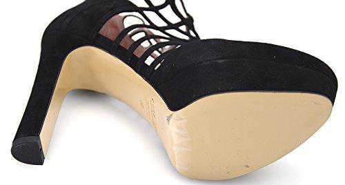 Twin Set Zapato DE Tacón Para Mujer Gamuza Negro Art. CPS4G6 40 Nero - Black
