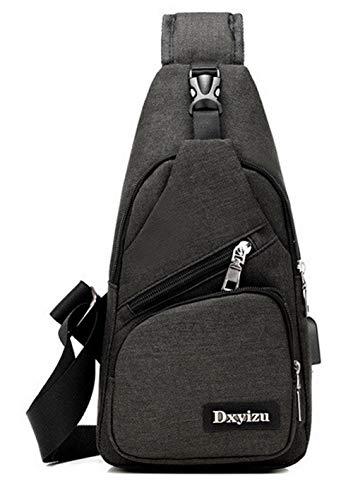 Zippers AMGBX181339 Cross Canvas Satchel WeenFashion Body Fashion Handbags Black Women's H8x6qqwfE