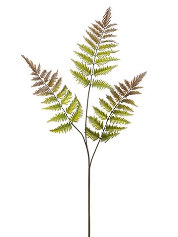 34-Leather-Fern-Spray-x3-Green-Brown-pack-of-12