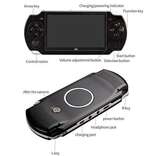 Handheld Game Console with Built in Games,Portable Video Games for Kids Retro,Built-In 500 Classic Video Games Player Gameboy with 4.3'' 8GB System for Birthday Presents Kids Children Adults (Black) by Womdee (Image #4)