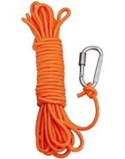 AITREASURE 32.8ft / 6 mm Floating Rope for Boat Water Tow Rope with Hooks Throwable Flotation Device Water Rescue Safety Equipment for Boating Swimming Pool