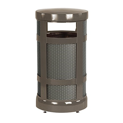 Rubbermaid Commercial Architek Trash Can with Rigid Plastic Liner, 17 Gallon, Bronze, FGA17ABZPL by Rubbermaid Commercial Products