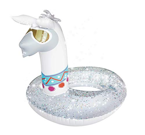 Splash Buddies Llama Pool Float Glitter Inflatable Swim Ring -- Fun Beach and Water Toy Lounge for Kids, Adults Alike]()