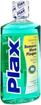 Antiplaque Mouthwash - Plax Dental Rinse Soft Mint - 16 oz, Pack of 3