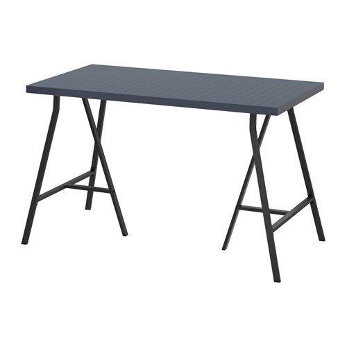 LINNMON / LERBERG テーブル, 幾何学模様 ブルー, グレー 492.142.88 B075V13Y1J