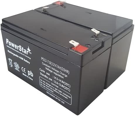 POWERSTAR 2 Pack 12V 7AH Battery Replacement for Enduring 6-DW-7
