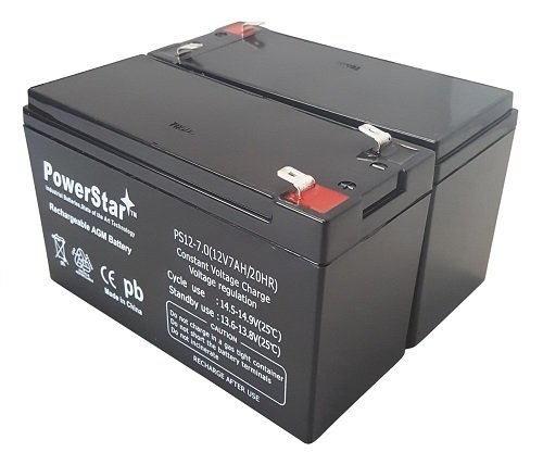 2 Pack - 12V 7AH BATTERY FOR RAZOR E200 & E300S ELECTRIC SCOOTER