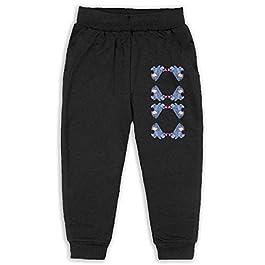 Laoyaotequ Eeyore Wallpaper Kids Cotton Sweatpants,Jogger Long Jersey Sweatpants