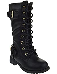 Mango 27K Little Kids Combat Lace Up Boots