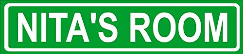 NITA ROOM Green Aluminum Street sign 4