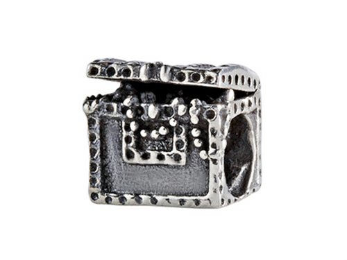 SilveRado Sterling Silver Treasure Chest Bead / Charm ()