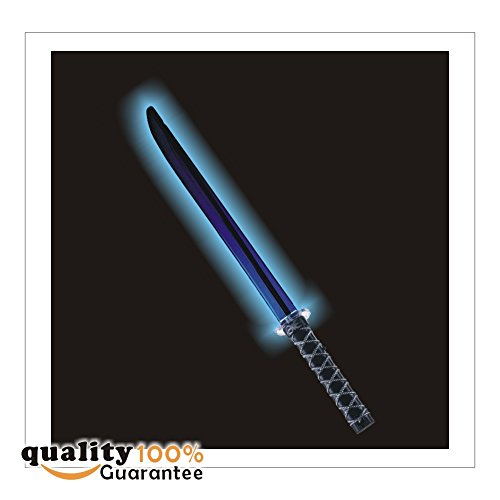 LED Light up Ninja Sword with Motion Activated Clanging Sounds by PMLAND