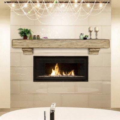 Distressed Espresso Finish - Shenandoah Fireplace Mantel Shelf Finish: Espresso Distressed, Shelf Length: 60