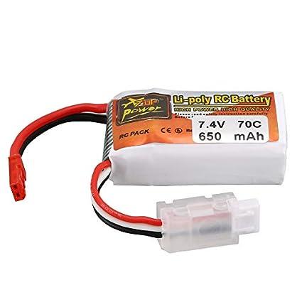 Justdodo ZOP Power 650MAH 7.4V 70C 2S JST Plug Lipo Batería ...