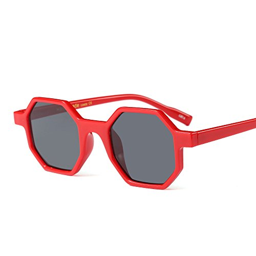 Women Sunglasses Sexy Vintage Small Frame Red 2018 Polygon - Goggles Reyban