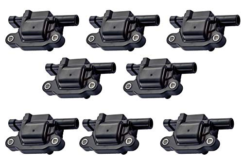 - Pack of 8 Ignition Coils for - Cadillac Chevy GMC Pontiac - G8 Grand Prix H3 Tahoe Yukon Silverado Impala Trailblazer Avalanche 5.3L 6.0L V8-12611424 12570616 8125706160 D510C