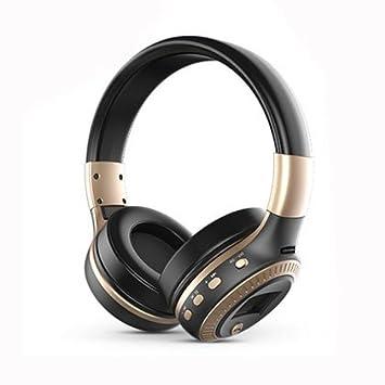 Cisixin Auriculares inalámbricos auriculares Bluetooth Tarjeta SD Ranura Con Los Teléfonos Móviles Portátiles Tablets y Otros Dispositivos Bluetooth: ...