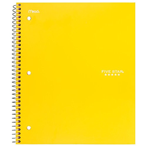 "043100060444 - Five Star Spiral Notebook, 1 Subject, College Ruled Paper, 100 Sheets, 11"" x 8-1/2"", Color Will Vary (06044) carousel main 12"