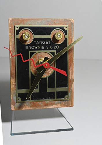 Kodak brownie target six camera face desk clock recycled upcycled ()