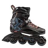 Rollerblade Cruiser Adult Fitness Inline Skate, Black/Grey Blue, Size 14 (Renewed)