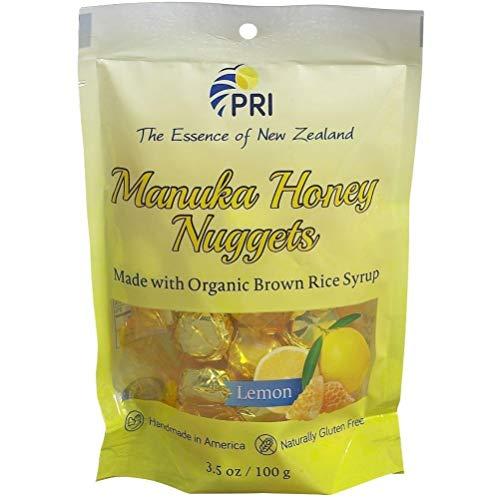 PRI Manuka Honey Nuggets Lemon 3.5 Ounces