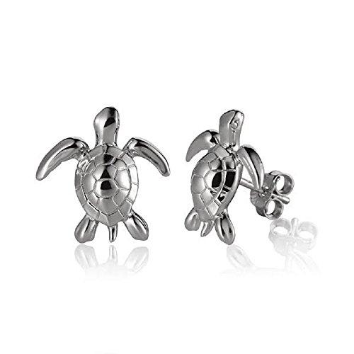 - Sterling Silver Small Turtle Stud Earrings