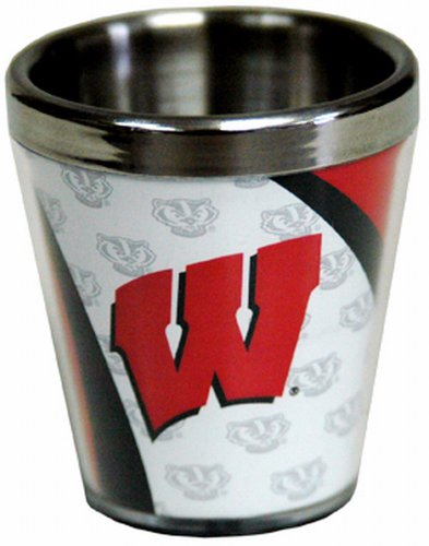 (NCAA Wisconsin Badgers Shotglass SS Acrylic)