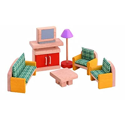 PLAN TOYS Dollhouse Furniture - Neo Living Room: Toys & Games