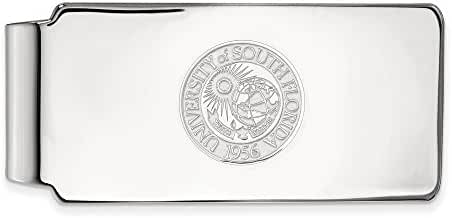 Sterling Silver LogoArt Official Licensed Collegiate University of South Florida (USF) Money Clip Crest