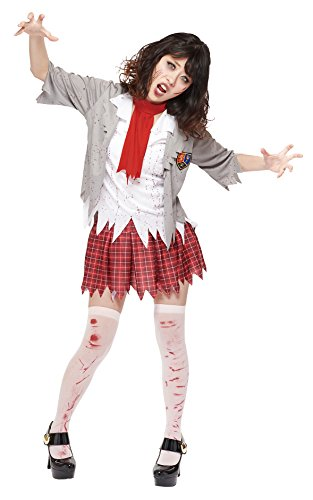 Halloween Costumes School Girl Zombie (Rubie's Costume Zombie School Girl Adult, Multicolor, Standard Costume)