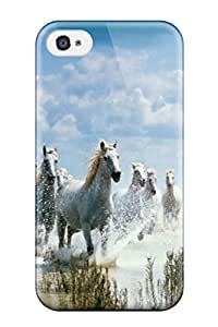 First-class Case Cover For Iphone 4/4s Dual Protection Cover Horses By The Beach Horse Animal Horse