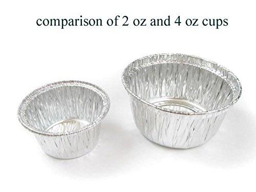 Disposable Aluminum Individual 2 Oz Foil Cups/ramekins. #S220 (2,000) by Safca