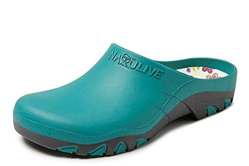 amp; Bleu Nat124400 8 Femme Jardin Sebs Chaussure nbsp; nbsp;natulive 7 Gevavi Turquoise Uqzgd
