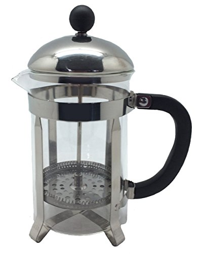 Wee's Beyond 7755 Brew-Fresh French Press Glass Coffee/Tea Maker, Clear/Glass