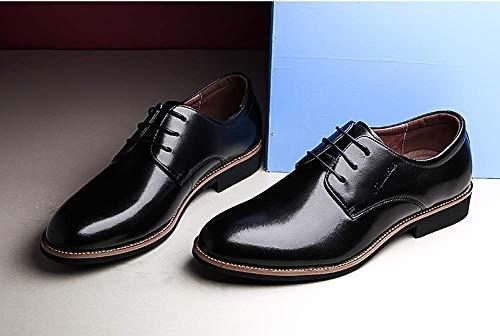 Negro 9 Hombres 8 de para para de Cuero tamaño 5 Cuadros de Formal Cordones HhGold a Boda para US Negro Vestir UK Color 8 Zapatos Color Negro UK 5 US 7 Talla Zapatos de Hombres Hombres ROqxvBw