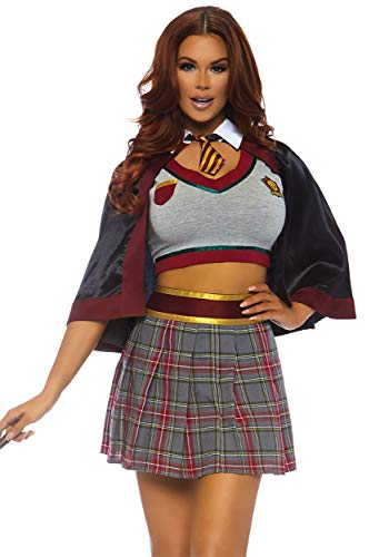 Leg Avenue Womens Spellbinding Magic School Girl Halloween Costume, Multi, Small -