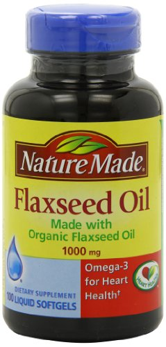 Nature Made Flaxseed Oil 1000mg, 100 Softgels