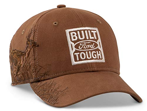 (Ford Genuine Built Ford Tough Brown DRI Duck Baseball Cap Deer Embroidered )