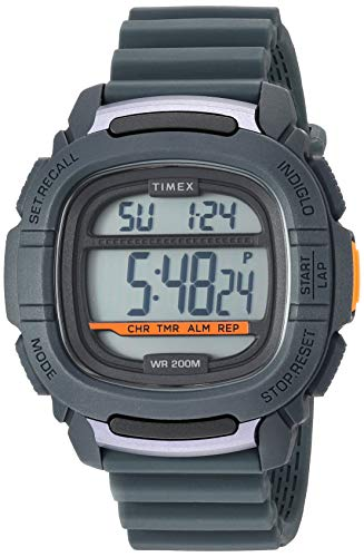 Timex Men's TW5M26700 BST.47 Gray Silicone Strap Watch ()