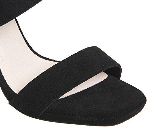 Office Howl Slingback Slim Block Heels Black Suede V97PQdG1n