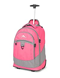 High Sierra 53990-4951 Chaser Wheeled Backpack, Flamingo/Charcoal, International Carry-On
