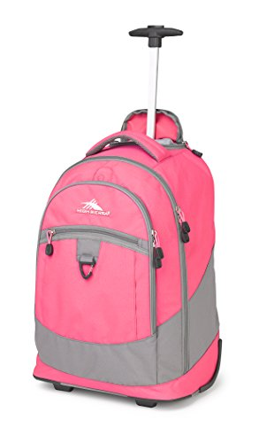 High Sierra Chaser Wheeled Laptop Backpack, Flamingo/Charcoal
