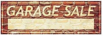 12x4 Garage Sale Ghost Aged Brick Heavy-Duty Outdoor Vinyl Banner CGSignLab