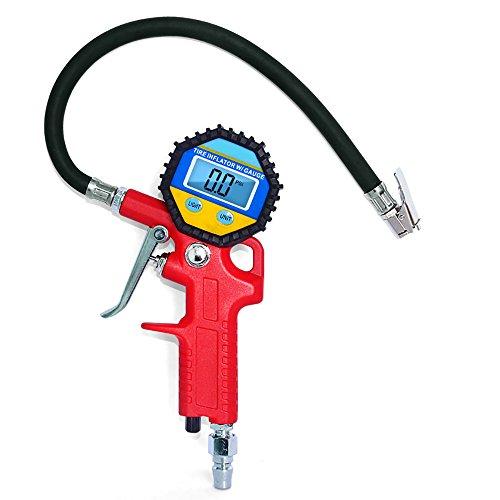 Compressor Work Boots (Pevor Digital Tire Pressure Gauge 150PSI Portable Tire Inflator Air Compressor LCD Backlit Display for Truck Car Motorcycle)